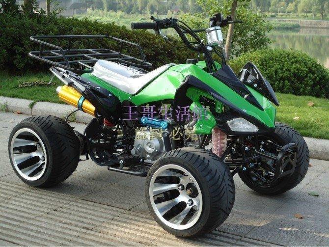 【凱迪豬廠家直銷】 升級鋁輪+雙排氣125cc越野車 沙灘車 四輪摩托車 機車