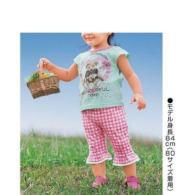 全新日本 nissen12 女童針織七分褲-130cm-一元起標