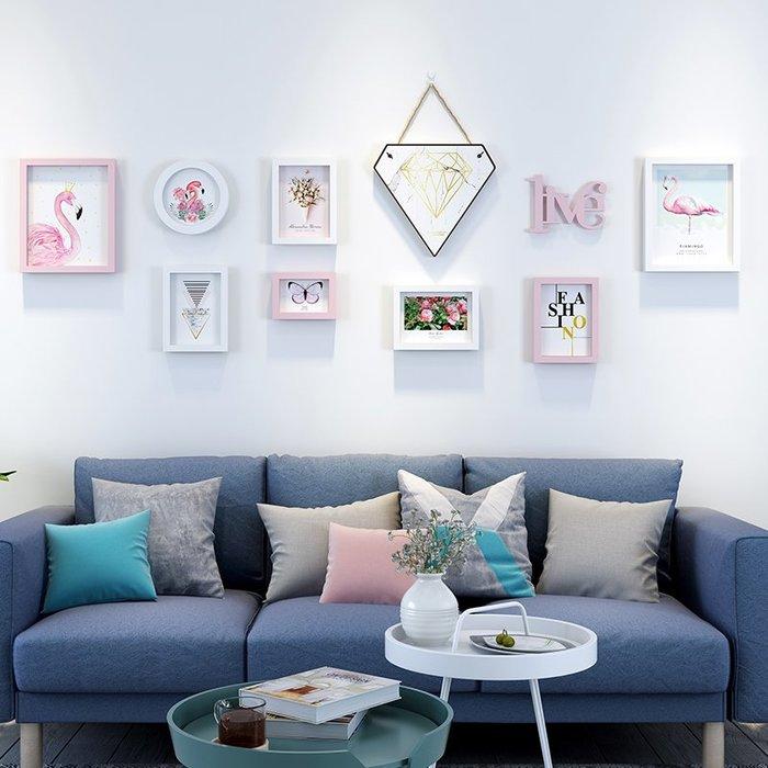 戀居抖音推薦創意禮品照片墻裝飾網紅款女孩房間裝飾品掛鐘裝飾畫