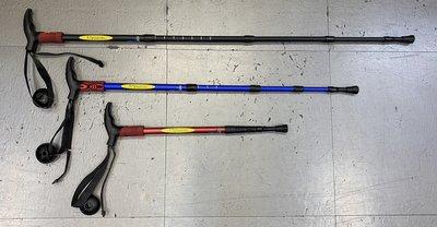 總統體育(自取可刷國旅卡)EXPONENT ABD-4-8027 輕量 航太鋁合金 登山杖 EVA泡棉握把 避震功能