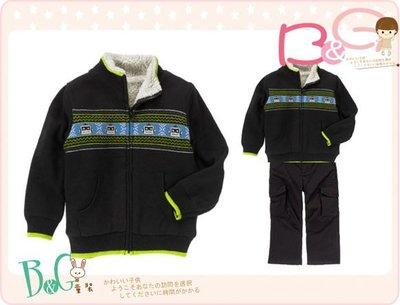 【B& G童裝】正品美國進口Crazy8內軟毛保暖深藍色長袖毛衣外套18-24mos,2yrs