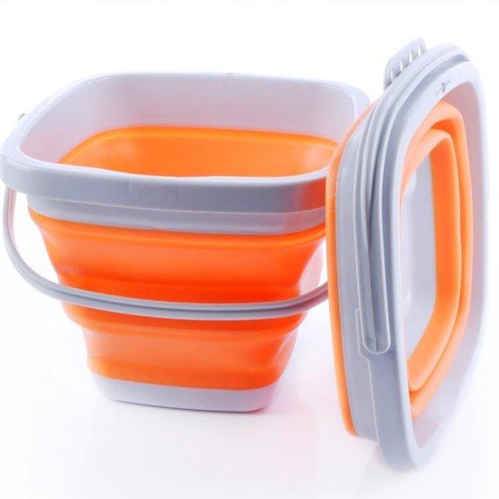 折疊桶便攜旅行美術軟硅膠伸縮釣魚桶戶外用品儲水桶加厚洗車桶  IGO