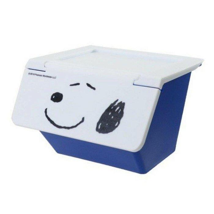 日本 史努比掀蓋式置物盒(藍)
