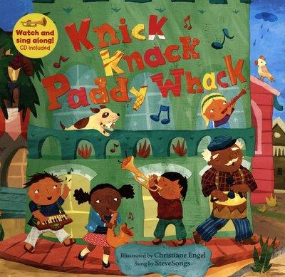 *小貝比的家*KNICK KNACK PADDY WHACK/平裝書+VCD/5-6歲大班/歌唱繪本