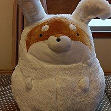 購自日本 全新正貨 白色柴犬扮兔仔 大公仔