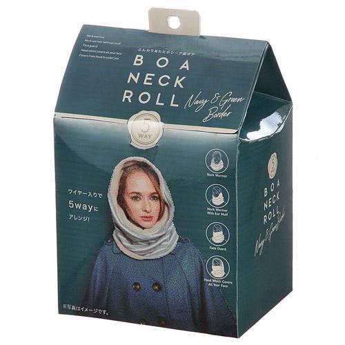 [霜兔小舖]日本代購  禮盒裝  5way 多功能 COGIT  藍綠條紋  內刷毛  脖圍 圍脖