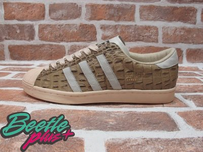 BEETLE PLUS 全新 ADIDAS SUPERSTAR VINTAGE CROCODILE 白奶油 鱷魚紋 014305 US 11
