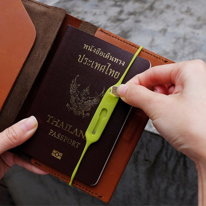 Sim卡&Pin針彈力收納線2人1組輕鬆與護照或護照套做結合不用擔心重要的SIM卡會遺失