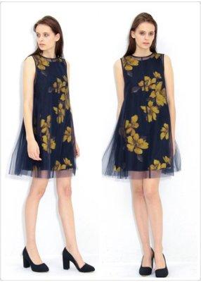 【預購】日本連線FRAY I.D春裝大花柄超美側百摺雪紡紗背心裙洋裝snidel lily brown