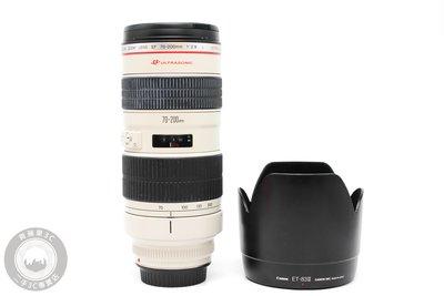 【高雄青蘋果3C】CANON EF 70-200MM F2.8 L 無IS UU鏡 恆定光圈 二手鏡頭#59805