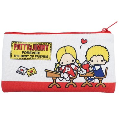Sanrio 日本正版 Patty and Jimmy 文具 筆袋