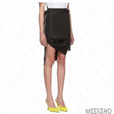 【WEEKEND】 PUSHBUTTON 不規則裙襬 特殊剪裁 腰包造型 半身裙 黑色 灰色