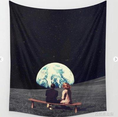掛毯 抽象超現實ins掛布掛毯裝飾布休閒客廳北歐創意背景布太空夫婦