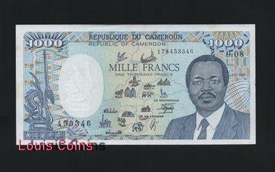【Louis Coins】B143-CAMEROON--1990喀麥隆紙幣