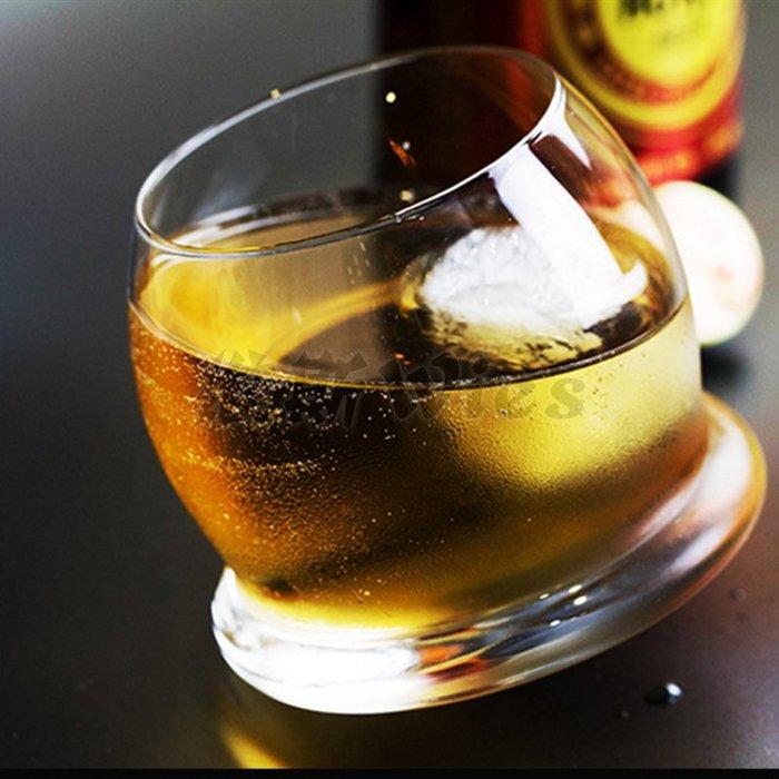 聚吉小屋 #Wies 自動轉杯威士忌不倒翁創意酒杯啤酒杯洋酒杯烈酒玻璃杯包郵