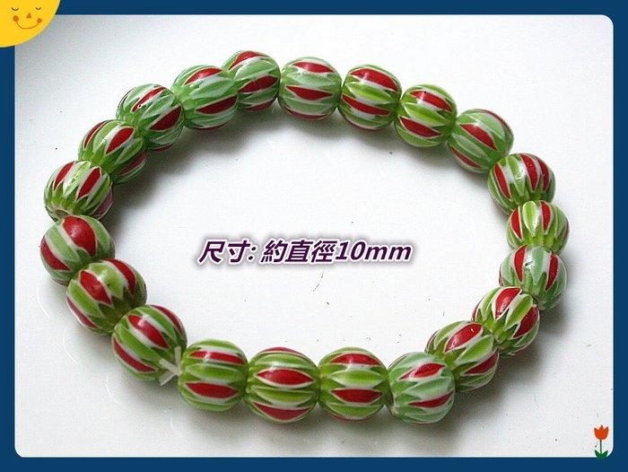 【雅之賞|藏傳|佛教文物】*特賣*尼泊爾古法老琉璃10mm手珠~E002