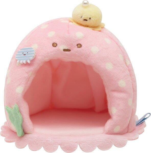 41+ 現貨不必等 Y拍最低價 日本正版 角落生物 海洋生物系列 粉紅水母小屋場景 沙包娃娃專用小日尼三
