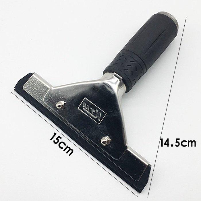 聚吉小屋 #正品KTM 黑色雙層橡膠水刮 不銹鋼柄 汽車美容工具 貼膜刮板 A39