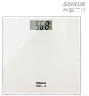 【通訊達人】台灣三洋SANLUX數位體重計 SYES-301 白色款_另售SYES-301M
