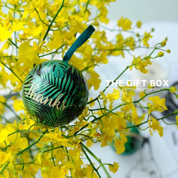 衣萊時尚-熱賣款  創意結婚禮喜糖盒新款馬口鐵盒圓球形糖果盒子精靈球