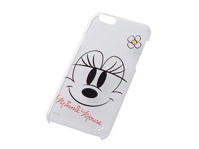 尼德斯Nydus~* 日本 迪士尼 米老鼠 米妮 Minnie 硬殼 手機殼 透明 大臉款 4.7吋 iPhone6