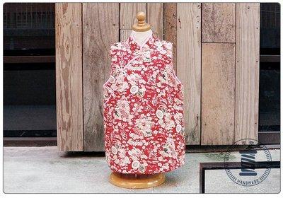 ✿小布物曲✿手作旗袍背心- 改良款式精巧手工車縫 高級進口布料+鋪棉質感超優 喜慶 單一尺寸