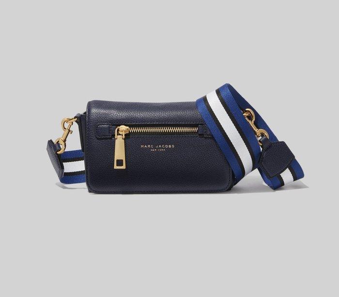 Coco 小舖 MARC JACOBS Gothom Leather Crossbody Bag 深藍色小斜背包