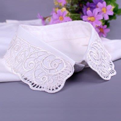 假領子 襯衫 領片-白色雪紡鏤空領子女裝配件73va8[獨家進口][米蘭精品]