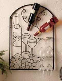 INPHIC-鐵藝壁掛酒架 紅酒架 葡萄酒架 經典裝飾