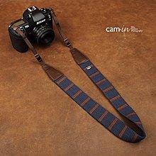 @3C 柑仔店@ CAM-IN CAM8196  素雅風  咖藍  棉織條紋  相機背帶  單眼 相機肩帶 B4801