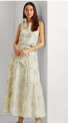 Ralph Lauren Tropical-Print Cotton Voile Shirtdress
