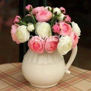 INPHIC-洛可哥宮廷風法式玫瑰花束 裝飾花 淡粉 仿真花絹花假花