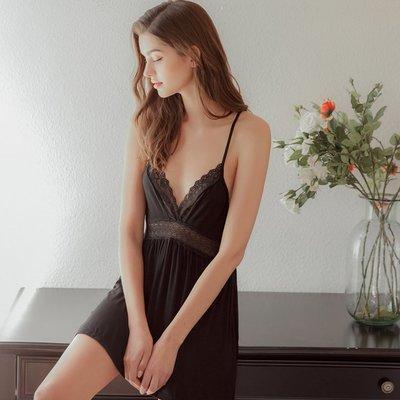 情趣內衣 角色扮演 舒適棉質睡裙情趣內衣激情套裝性感鏤空高腰低胸好穿美背小夜衣