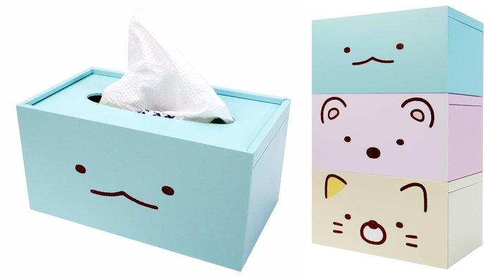 【莓莓小舖】正版 ♥ San-X 角落生物 木製面紙盒