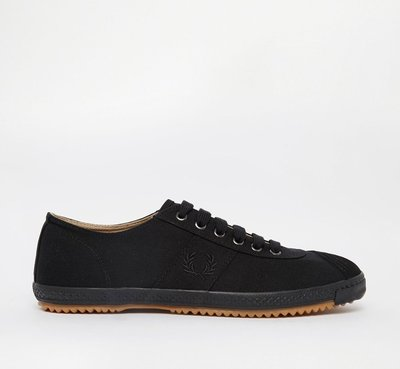 Fred Perry Table Tennis Canvas Plimsoll 黑色 桂冠 帆布鞋 休閒