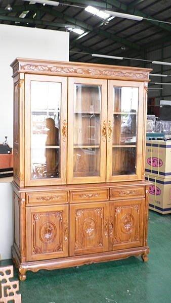 樂居二手家具 實木傢俱批發價Q270*名式柚木書櫃*法式書櫥/書架/酒櫃/隔間屏風櫃/高低櫃