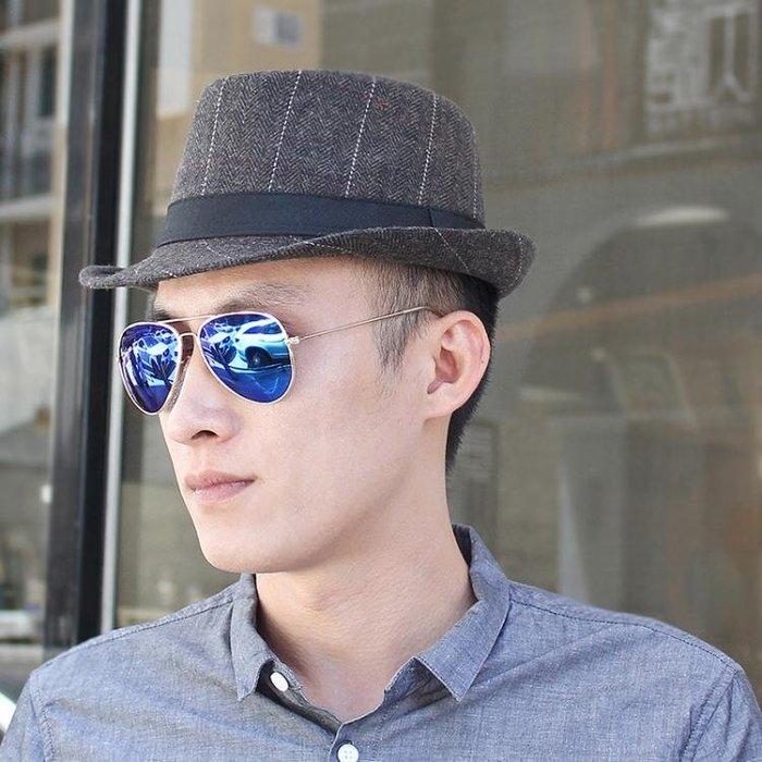 帽子男 禮帽 韓版秋冬保暖爵士帽出遊戶外休閒格子英倫爵士男女士帽子紳士帽yx419