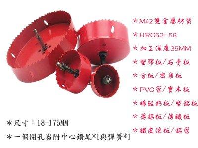 【丸豐工具】【35MM雙金屬開孔器】【木板/塑板/石膏板/稀酸鈣板/鋁板/浪板/鐵板/鐵管】