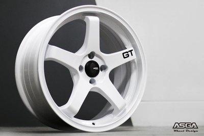 ASGA A03 17吋鋁圈 類 ADVAN GT 內凹 4孔100 完工價
