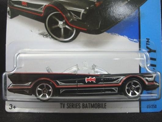 傳奇車庫-風火輪絕版卡 BATMOBILE 蝙蝠車 1966電視特別版 BATMAN 藍邊