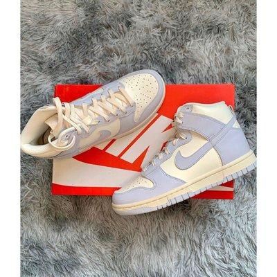 """全新 Nike Dunk High """"FootballGrey"""" 香芋紫 女款 休閒鞋 籃球鞋 DD1869-102"""