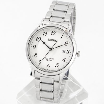 現貨 可自取 SEIKO SGEH73P1 精工錶 40mm 大三針 數字錶 白面盤 藍寶石水晶鏡面 鋼錶帶 男錶女錶