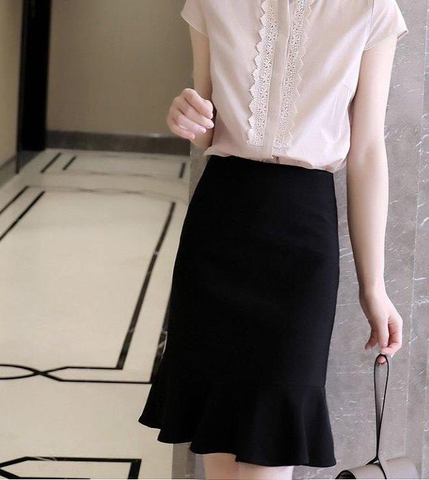 春夏 立體剪裁顯瘦魚尾裙 2202