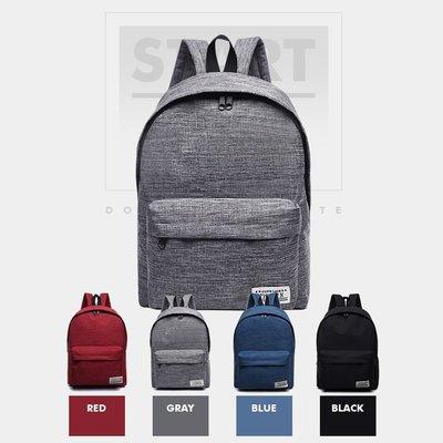 韓版 英文標籤後背包 雙肩包 後背包 帆布包 休閒背包 學院風 旅行 收納【RB497】