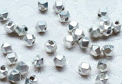 嗨,寶貝手創飾品工作室* 925純銀飾 DIY串珠配件☆光面多角珠造形 串珠 配件☆客製化