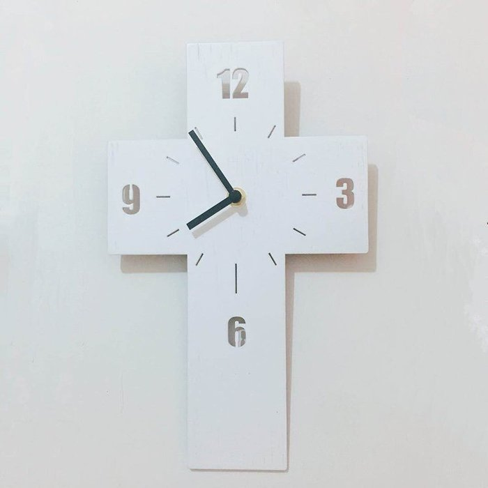 預訂~基督教 教會 ~十字架時鐘 (盒裝)
