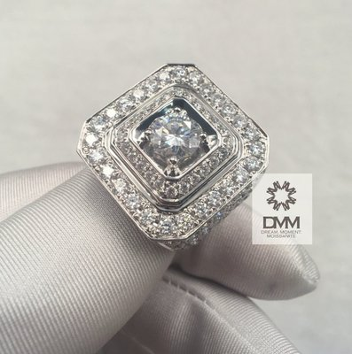 2克拉 寬版霸氣 滿鑽款式 DMM 流星鑽 莫桑石/GIA 鑽石 珠寶 摩星鑽 線戒 婚戒 高碳鑽 精品名牌 Moissanite 客製化 18k金 租借