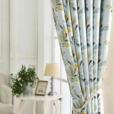 窗簾全遮光遮陽布客廳臥室落地窗飄窗成品定制掛鉤式田園現代簡約