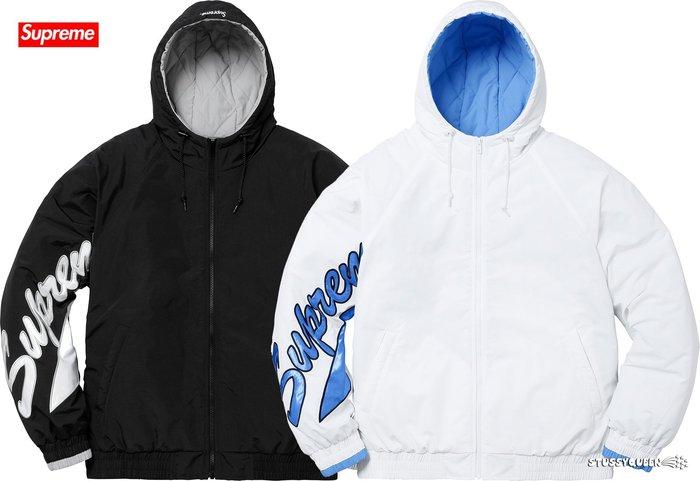 【超搶手】全新正品 2018 SS Supreme Sleeve Script Sideline Jacket 鋪棉外套