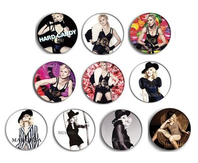 現貨 MADONNA Hard Candy pinback BADGE SET 1a 襟章 徽章 (一套10個)